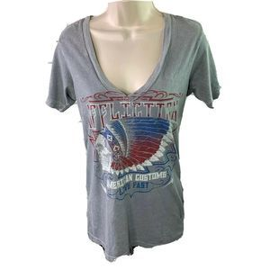 Affliction Women's T Shirt Large American Customs